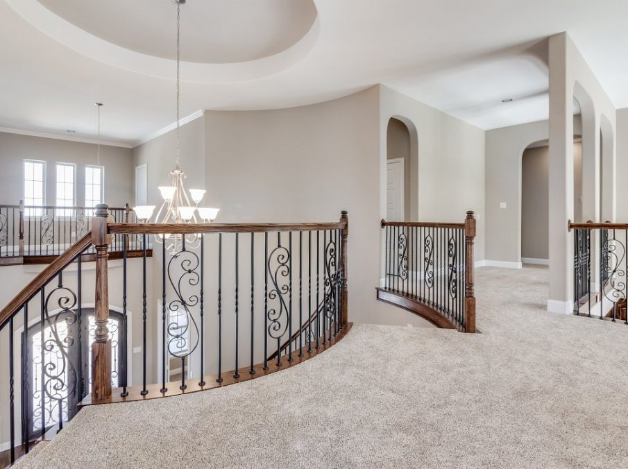 Landon Homes New Home Builder 798 Montblanc Staircase Landing view to Gameroom