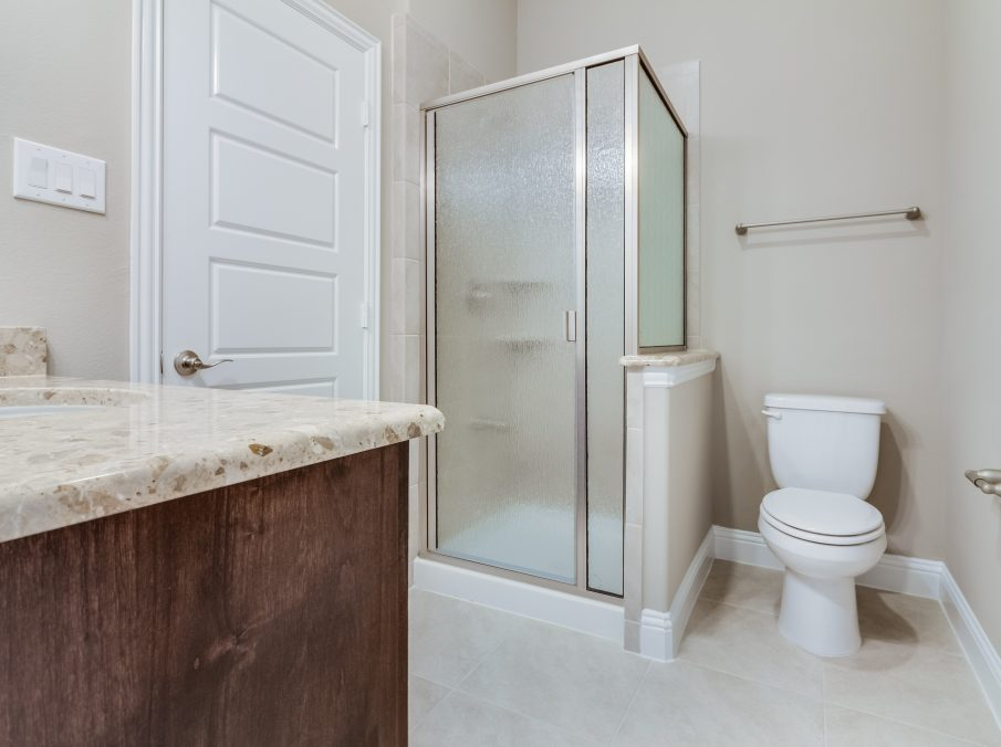 Landon Homes New Home Builder 798 Montblanc Secondary Bathroom with Stand-up Shower