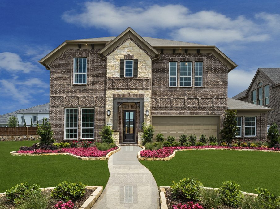 Frisco TX New Homes at Lexington Country Impression Series Exterior Model Home