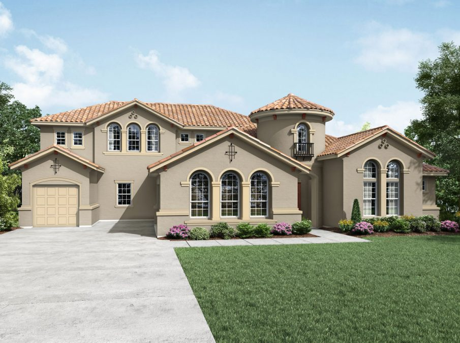 980 Monterey Collection Elevation B Stucco