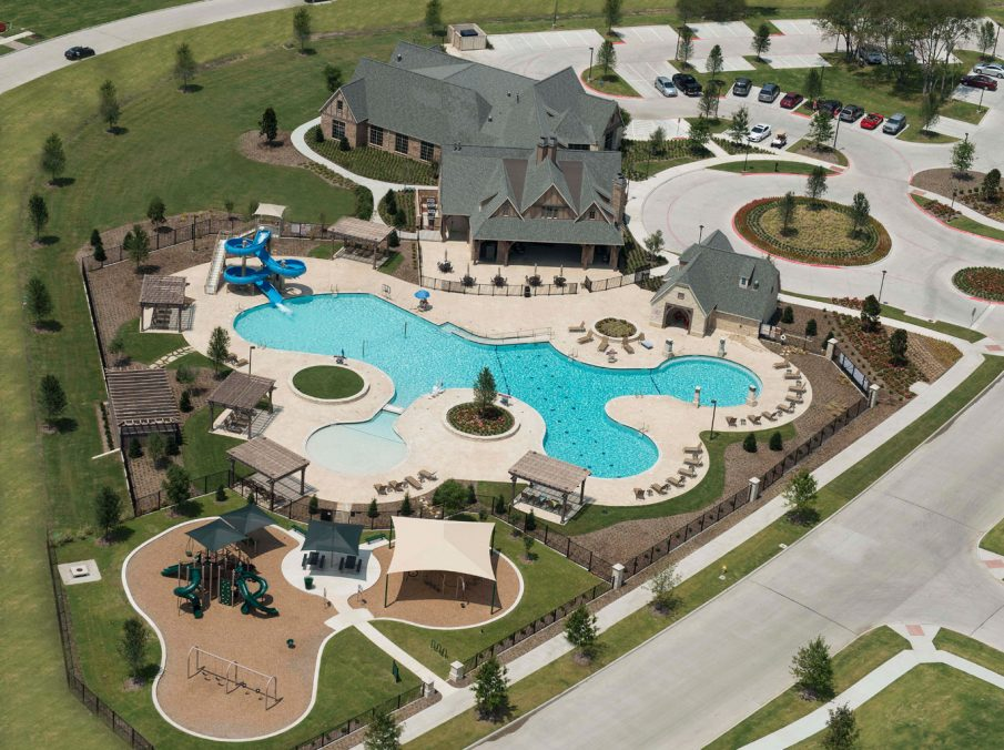 Landon Homes in Gated community Richwoods, Frisco TX Pool