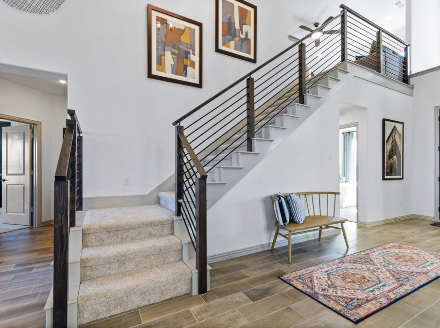 Landon Homes 5810 Sienna Model Argyle TX staircase