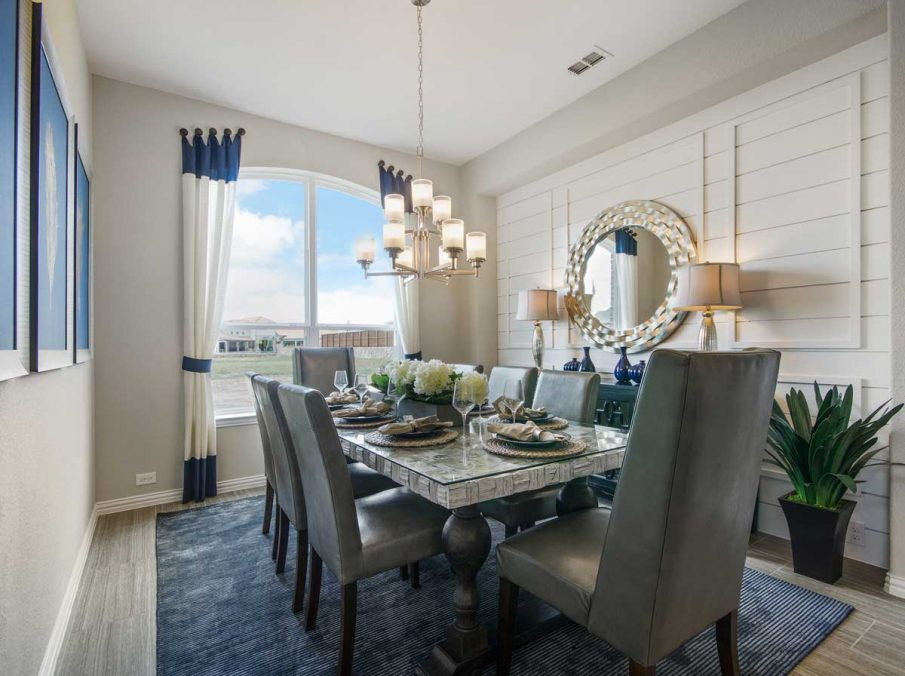 4655 Wellington Landon Homes Decorated Formal Dining Ship-Lap Accent Wall