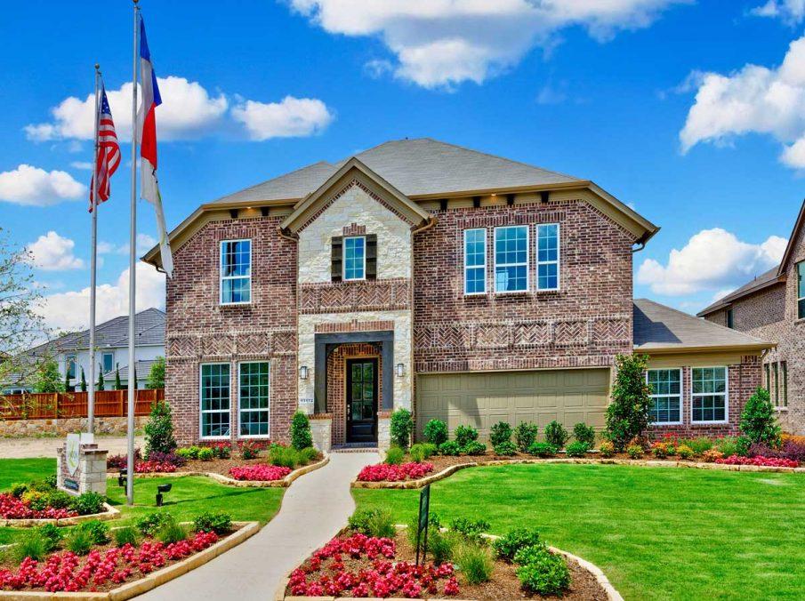 4655 Wellington Landon Homes Stone and Brick Exterior