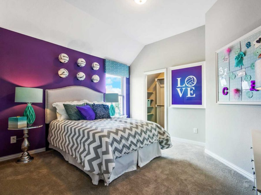 4655 Wellington Landon Homes Decorated Girls Bedroom Volley Ball Theme