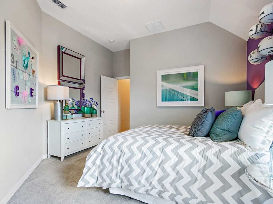 4655 Wellington Landon Homes Decorated Guest Bedroom