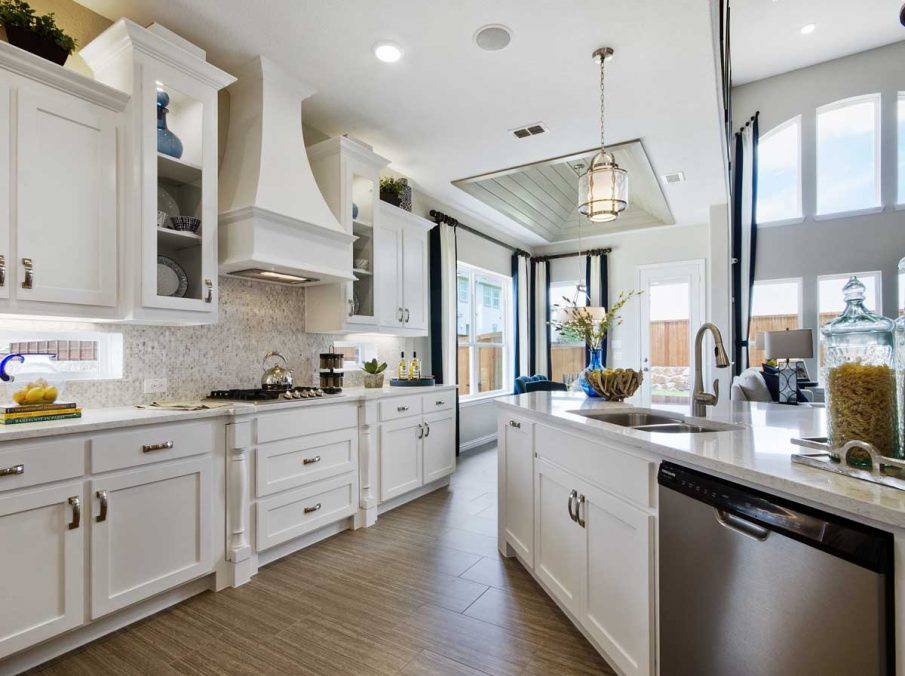 4655 Wellington Landon Homes Decorated Kitchen White Painted Cabinets
