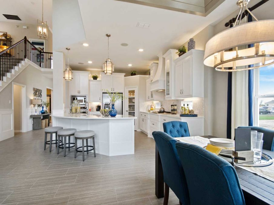 4655 Wellington Landon Homes Decorated Breakfast Nook Looking to Kitchen