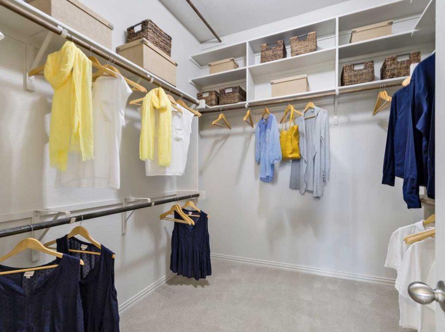 4655 Wellington Landon Homes Decorated Master Walk-in Closet