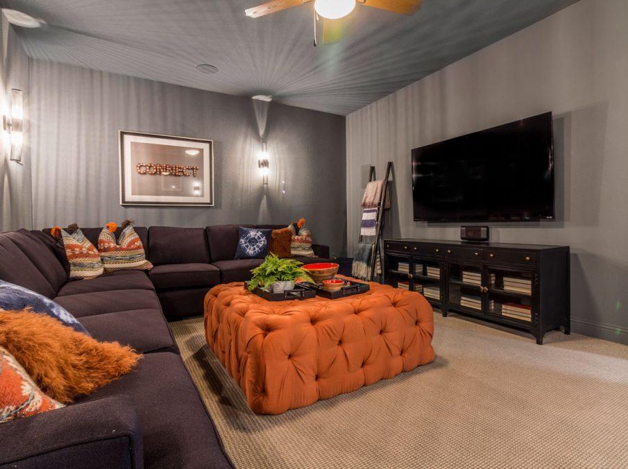 Landon Homes 675 Newbridge Media Room Cone Lighting