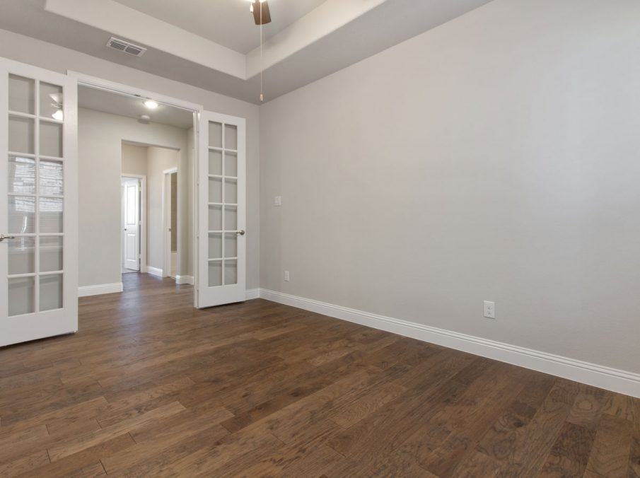 Landon Homes new home builder 515 Sherwood Study with wooden floors